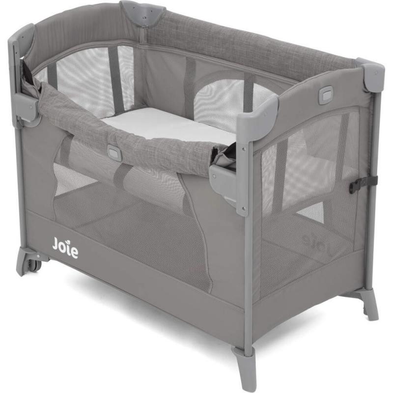 Joie Kubbie Sleep Compact Travel Cot - Foggy Grey (5)
