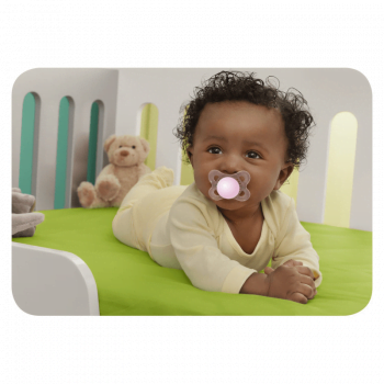 MAM Crystal 0+ Months Soother - Pink 4