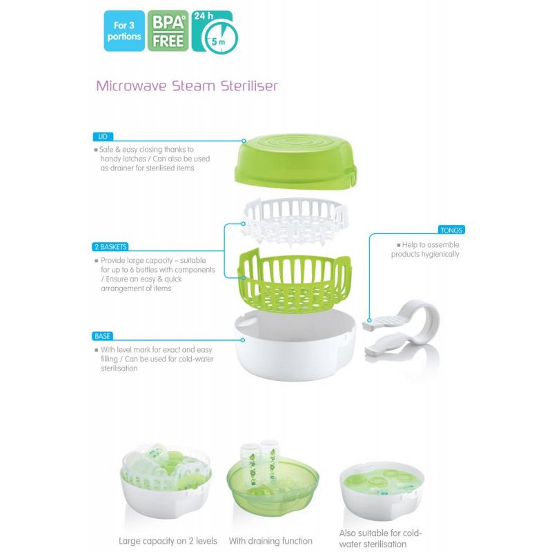 MAM Microwave Steam & Cold Water Steriliser 4