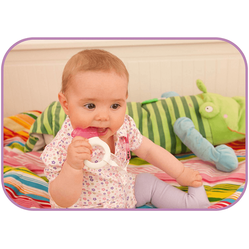 Pink MAM Mini Cooler Teether and Clip