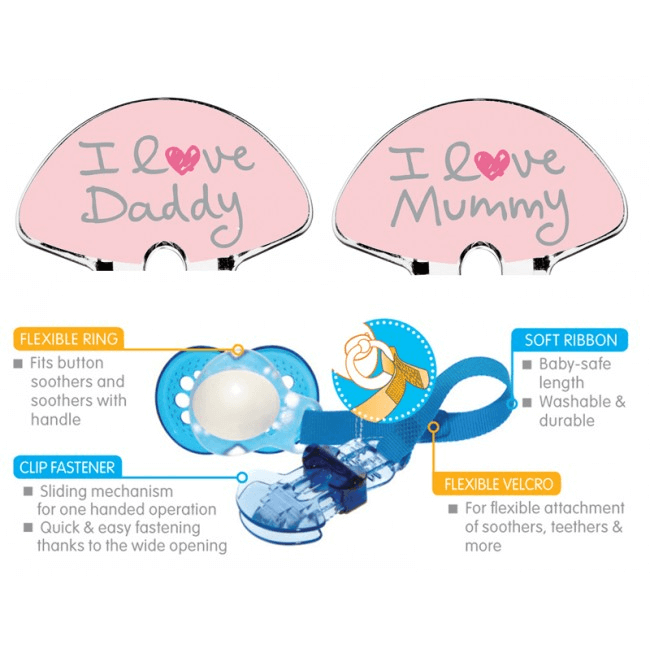 MAM Soother Clip Twin Pack - Pink 2