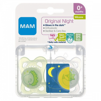Mam Unisex Night Soothers 0m+
