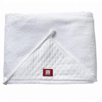Red Castle Apron Bath Towel – White