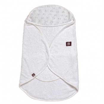 Red Castle Babynomade Bath Time Blanket 0-6m - White