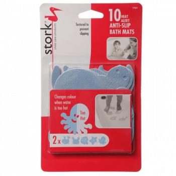 Stork Child Care Colour Changing Non-Slip Bath Mats x10