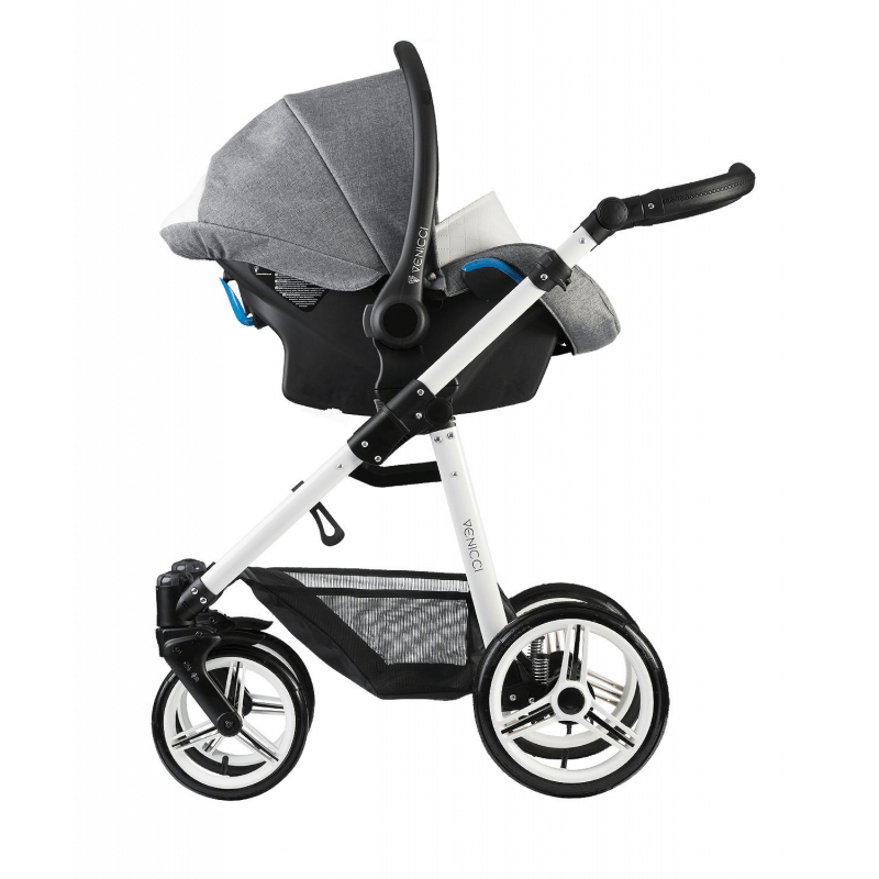 Venicci Pure 3 in 1 Travel System - Denim Grey 2