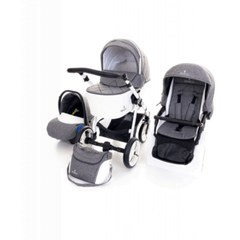 Venicci Pure 3 in 1 Travel System - Denim Grey 3