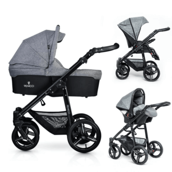 Venicci Soft Vento 3 in 1 Travel System - Denim Grey & Black