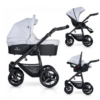Venicci Soft Vento 3 in 1 Travel System - Light Grey & Black