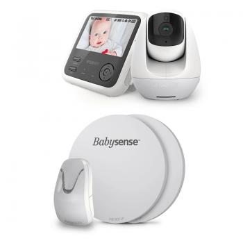 Wisenet Video Monitor SEW-3049WPCU & Babysense 7 Baby Breathing Monitor