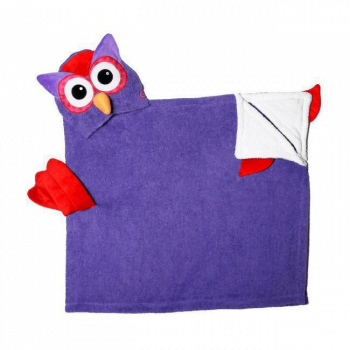 Zoocchini Kids Hooded Towel - Olive the Owl