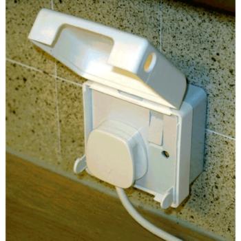 BabySecurity Single Electric Plug Socket Cover Open