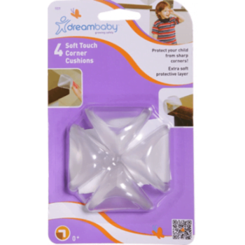 Dreambaby Soft Touch Corner Cushions - 4 Pack
