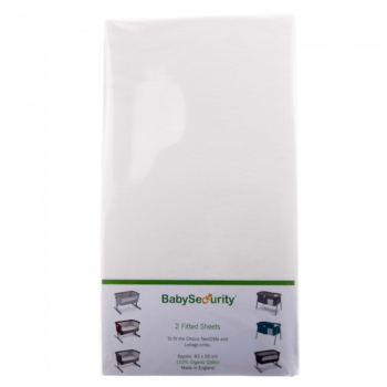 Next2Me Organic Fitted Sheets - White (2 Pack)