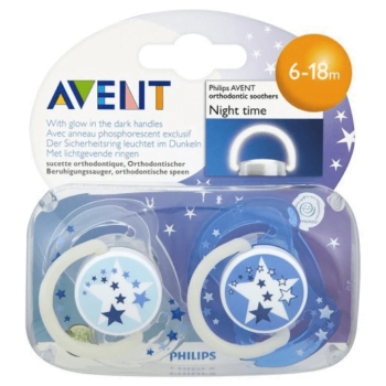 Philips AVENT Glow in The Dark Soother 6-18 Months