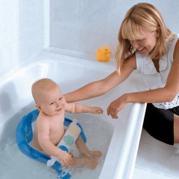 Dreambaby Fold Away Bath Seat in bath