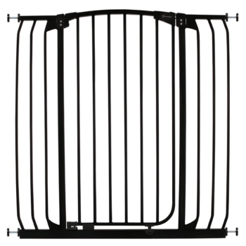 CHELSEA XTRA-TALL & XTRA- WIDE HALLWAY AUTO-CLOSE SECURITY GATE - BLACK 2