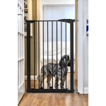 Callowesse Extra Tall Dog Gate 75-82cm Pressure - Black 110cm High