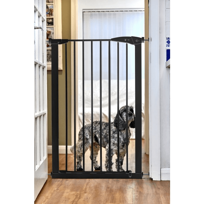 Callowesse Extra Tall Pet Gate 75-82cm Pressure - Black 110cm High 1