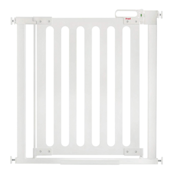 Fred Pressure Fit Wooden Stairgate - White