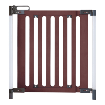 Fred Safety Screw Fit Dark Wood Baby Safety Gate to Fit Openings 75cm to 104cm