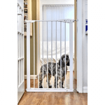 Callowesse Extra Tall Dog Gate 75-82cm Pressure Fit- White 110cm High