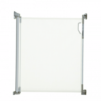Stork Retractable Baby Gate - White