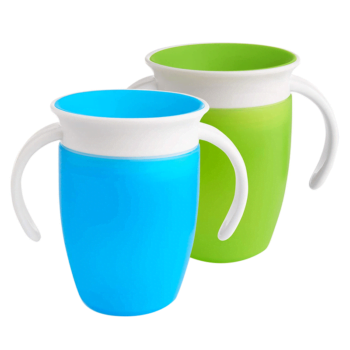 Munchkin Miracle 360 Trainer Cup (7oz/207ml) - Blue & Green (2 Pack)
