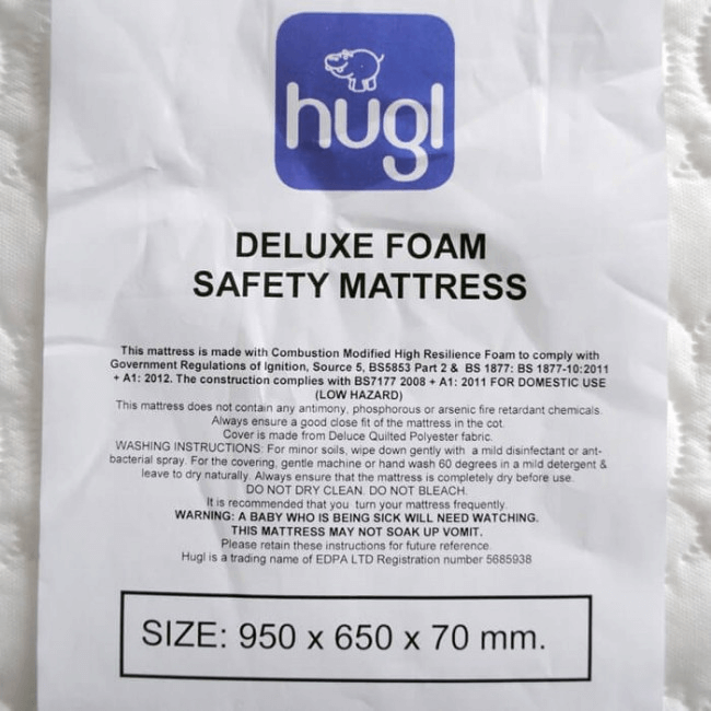 separation shoes 70996 b1761 Hugl Travel Cot Deluxe Mattress (95 x 65cm) | Travel | Olivers BabyCare
