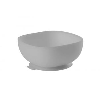 Beaba Silicone Suction Bowl - Grey