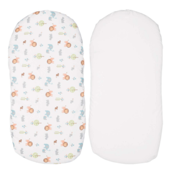 Chicco Baby Hug Set of 2 Fitted Sheets - Little Animals