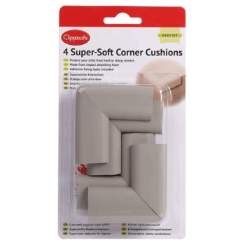 Clippasafe Super Soft Corner Cushions - 4 Pack