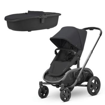 Quinny Hubb Stroller + Carrycot Black on Black