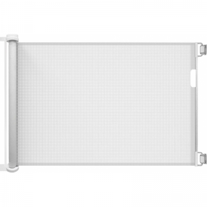 Callowesse© Air Retractable Stair Gate & Free Spacers 30-130cm – White
