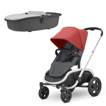 Quinny Red Grey Stroller