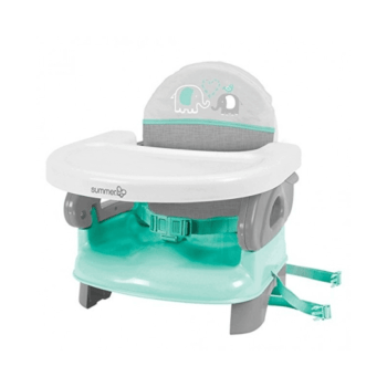 Summer Infant Deluxe Comfort Folding Booster Seat – Teal Grey