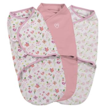 Summer Infant SwaddleMe 3 Pack - Small (Secret Garden Girl)