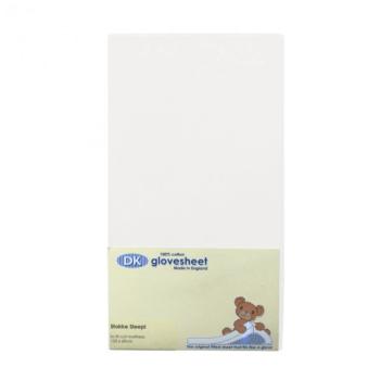 DK Glovesheets Stokke Sleepi Fitted Sheet - White
