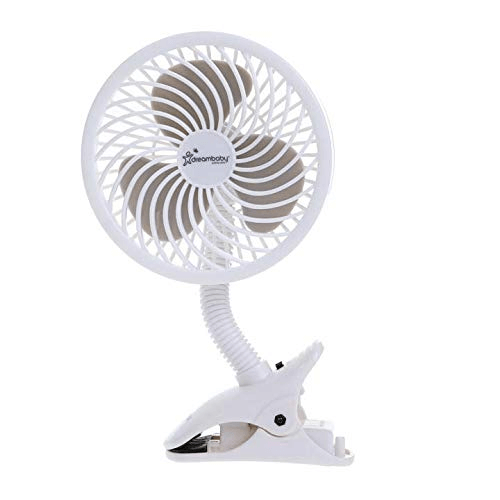 Dreambaby Deluxe Caged Stroller Fan - White 6