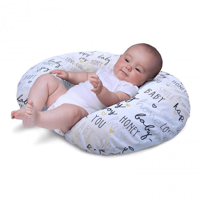 Boppy Nursing/Feeding Pillow with Cotton Slipcover - Hello Baby 3