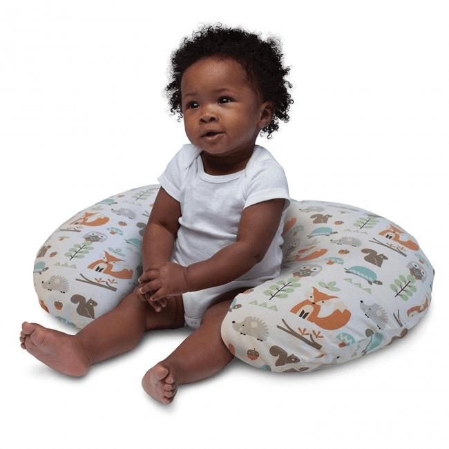 Boppy Nursing/Feeding Pillow with Cotton Slipcover - Modern Woodland 4