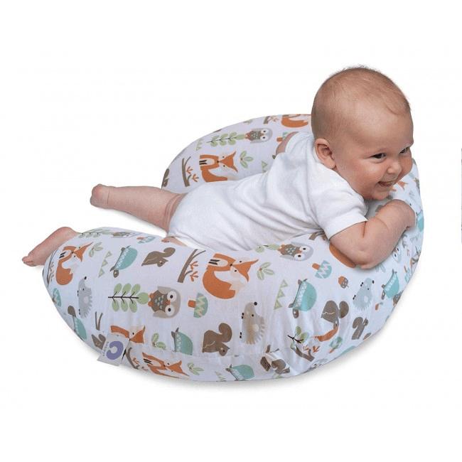 Boppy Nursing/Feeding Pillow with Cotton Slipcover - Modern Woodland 3