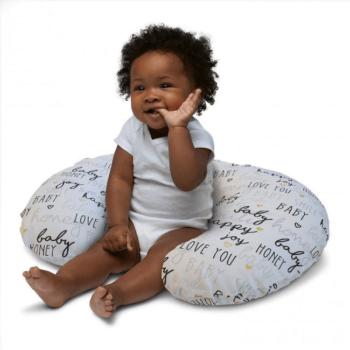 Boppy Nursing/Feeding Pillow with Cotton Slipcover - Hello Baby 9