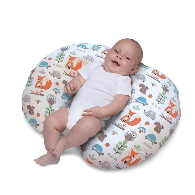 Boppy Nursing/Feeding Pillow with Cotton Slipcover - Modern Woodland 2