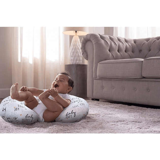 Boppy Nursing/Feeding Pillow with Cotton Slipcover - Hello Baby 7