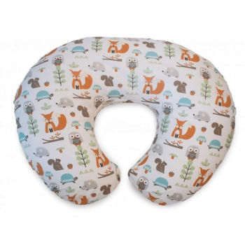 Boppy Nursing/Feeding Pillow with Cotton Slipcover - Modern Woodland