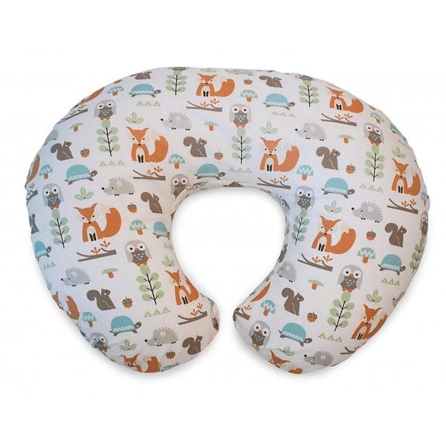 Boppy Nursing/Feeding Pillow with Cotton Slipcover - Modern Woodland