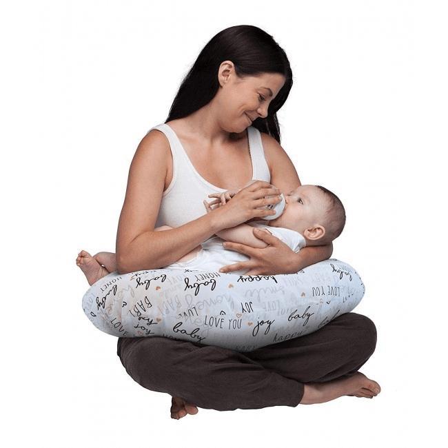 Boppy Nursing/Feeding Pillow with Cotton Slipcover - Hello Baby 10