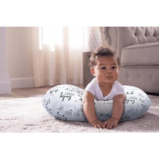 Boppy Nursing/Feeding Pillow with Cotton Slipcover - Hello Baby 6