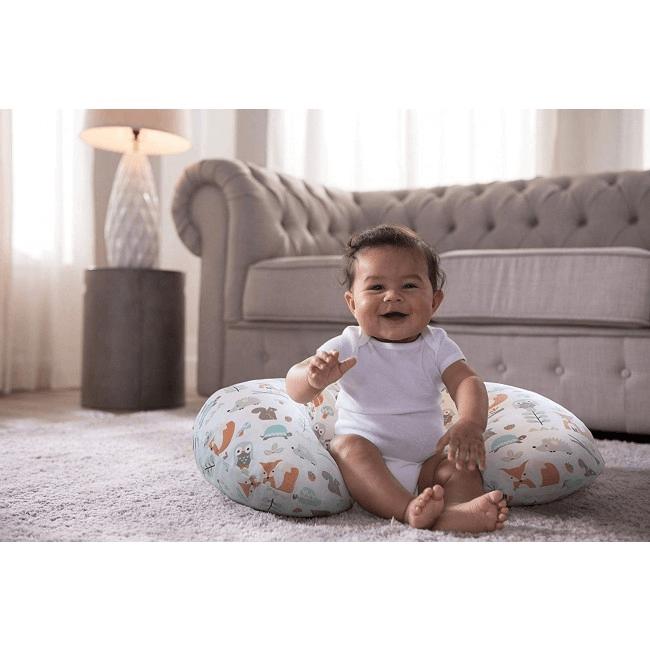 Boppy Nursing/Feeding Pillow with Cotton Slipcover - Modern Woodland 5